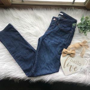 Levi's 712 Slim Mid Rise Dark Wash Denim Jeans 27